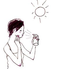 化粧水、化粧直し用として